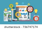 business growth analytics and... | Shutterstock . vector #736747174