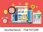 data driven marketing strategy. ...   Shutterstock . vector #736747189