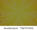 optical illusion  abstract... | Shutterstock .eps vector #736747444