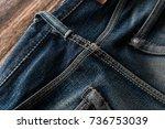 denim jeans texture or denim... | Shutterstock . vector #736753039