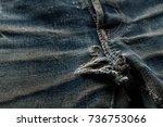denim jeans texture or denim... | Shutterstock . vector #736753066