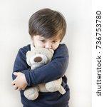 Portrait Of Toddler Boy Hugging ...