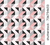 geometric pattern | Shutterstock .eps vector #736754653
