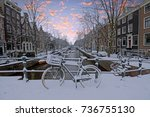 Snowy Amsterdam In The...