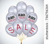 black friday sale poster with... | Shutterstock .eps vector #736756264