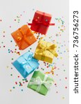 Colorful Gift Boxes With...