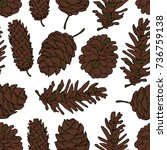 cones vector illustration. drop ... | Shutterstock .eps vector #736759138