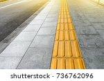 tactile paving for blind... | Shutterstock . vector #736762096