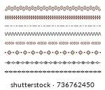 geometric horizontal decor line ... | Shutterstock .eps vector #736762450