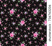 floral pattern | Shutterstock .eps vector #736763206