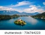 slovenia   aerial view resort... | Shutterstock . vector #736764223