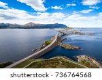 atlantic ocean road or the... | Shutterstock . vector #736764568