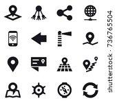 16 vector icon set   pointer ... | Shutterstock .eps vector #736765504