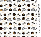 seamless pattern happy... | Shutterstock .eps vector #736766098