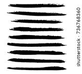 set of grunge stroke brushes.... | Shutterstock .eps vector #736768360