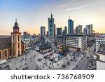 frankfurt  germany   mar 18 ...   Shutterstock . vector #736768909