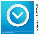 down arrow icon | Shutterstock .eps vector #736773028