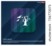halloween tree icon   Shutterstock .eps vector #736773073