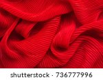 embossed fabric  pleated. red...   Shutterstock . vector #736777996