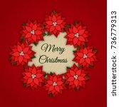 merry christmas vector...   Shutterstock .eps vector #736779313