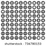 network icons | Shutterstock .eps vector #736780153