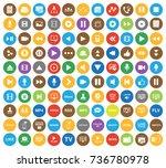 media icons | Shutterstock .eps vector #736780978