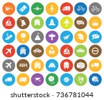 transport icons | Shutterstock .eps vector #736781044