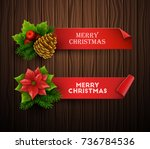 christmas banners set. vector...