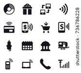 16 vector icon set   circle... | Shutterstock .eps vector #736786228