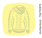 a realistic warm jumper or... | Shutterstock .eps vector #736792870
