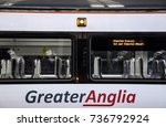 Small photo of LONDON, ENGLAND - OCTOBER 14, 2013: Greater Anglia train at Liverpool street station in London
