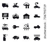 16 vector icon set   truck  eco ... | Shutterstock .eps vector #736793719