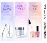 vertical beauty banners of...   Shutterstock .eps vector #736794166