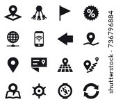 16 vector icon set   pointer ... | Shutterstock .eps vector #736796884