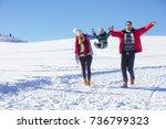 attractive family having fun in ...   Shutterstock . vector #736799323