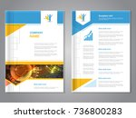 vector modern brochure with... | Shutterstock .eps vector #736800283