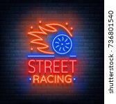 street racing logo emblem... | Shutterstock .eps vector #736801540