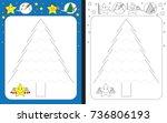 preschool worksheet for... | Shutterstock .eps vector #736806193