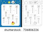 preschool worksheet for... | Shutterstock .eps vector #736806226