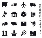 16 vector icon set   delivery ... | Shutterstock .eps vector #736810534