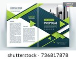 front and back cover of a... | Shutterstock .eps vector #736817878