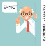 consultant scientist education...   Shutterstock .eps vector #736817938