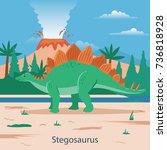 stegosaurus. prehistoric animal