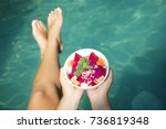 fruit bowl   healthy breakfast... | Shutterstock . vector #736819348