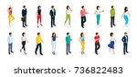 fashion isometric people  men... | Shutterstock .eps vector #736822483