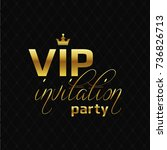 vip party invitation abstract...   Shutterstock .eps vector #736826713