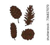 cones vector illustration. drop ... | Shutterstock .eps vector #736827070