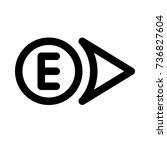 east direction | Shutterstock .eps vector #736827604
