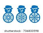 set of laser cut template of... | Shutterstock .eps vector #736833598