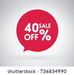 40  offer label sticker  sale... | Shutterstock .eps vector #736834990